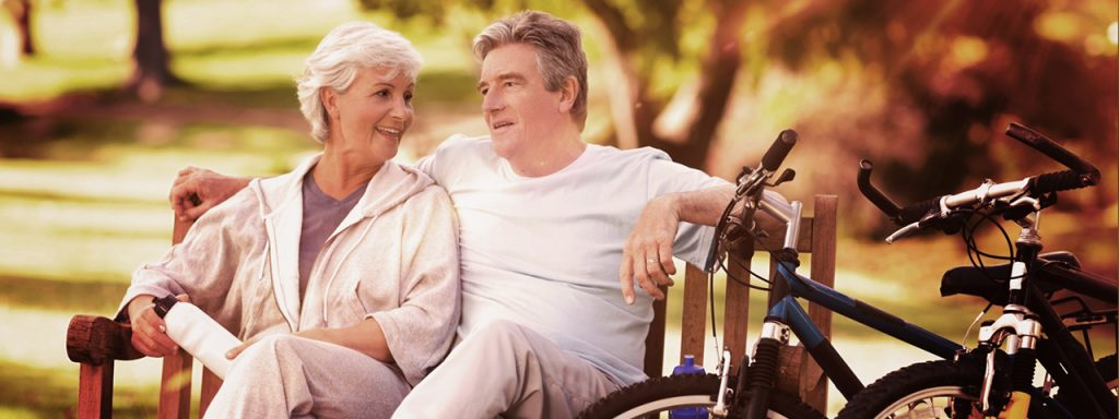 Older couple with bicycles, eye exam, eye doctor, Wesley Hills, Monsey, Pamona, Airmont & Suffern, NY